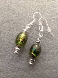 sparkly green earrings 141 best punchy jewelry images on purple ribbon band