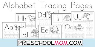 printable alphabet tracing sheets for preschoolers alphabet