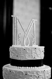 m cake topper brides helping brides swarovski letter m cake topper liweddings