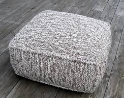 knitted ottoman etsy