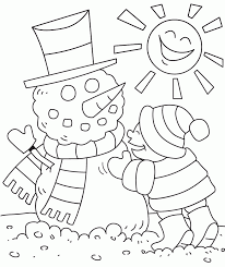 children with winter cloths coloring pages coloring home
