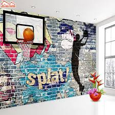 basketball entertainment promotion shop for promotional basketball shinehome large custom wallpapers 3d sports basketball exercise gym bar cafe keep fit room shop room murals wall paper rolls