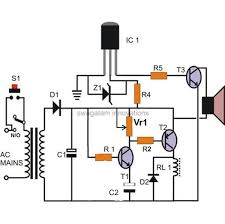 circuit diagram of door bell circuit and schematics diagram