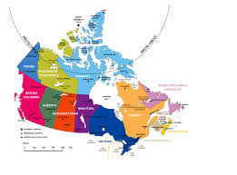 Map Of Canada by Large Administrative Divisions Map Of Canada Vidiani Com Maps