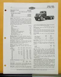 1955 autocar truck model cl 8464 specification sheet