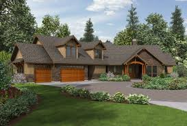 craftsman house plans with porches uncategorized one level home plan with porches notable inside