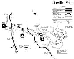 Fall Creek Falls Map Linville Falls Hiking Trails Blue Ridge Parkway U S National