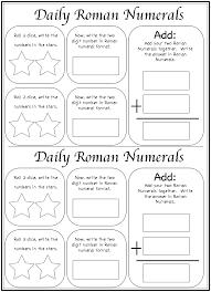 math worksheet learning roman numerals help pinterest
