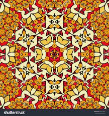 endless ornamental pattern seamless oriental art stock vector