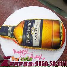 teacher u0027s scotch whisky shaped cake online cake delivery