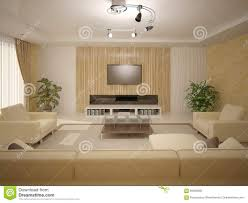 Light Furniture For Living Room Interer Living Room With Light Furniture Stock Illustration