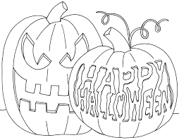 download happy halloween pumpkin coloring pages to color or print