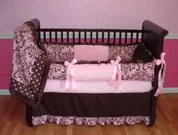 Pink And Black Crib Bedding Sets Pink And Chocolate Damask Baby Bedding This Custom Baby Crib