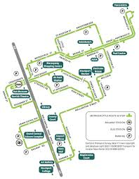 Bus Route Map Metroshuttle Free Bus Travel In The City And Town Centres