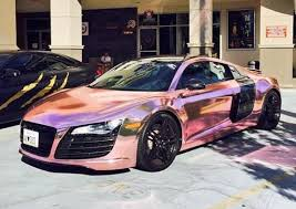 good stretchable pvc self adhesive car paint protection rose gold