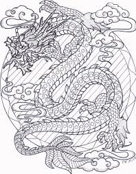 chinese dragon zentangle coloring page digital download by