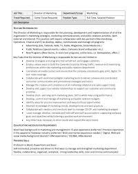 International Marketing Director Job Description Cavender U0027s Linkedin