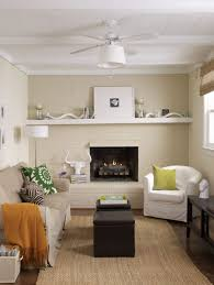 small living room with fireplace and neutral wall colors make