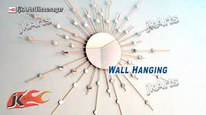 diy sunburst mirror wall hanging how to make jk arts 577 youtube
