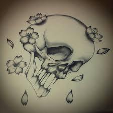 cherry blossom skull design my ideas