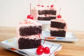 frost u0026 serve chocolate cherry cake cherry buttercream recipe