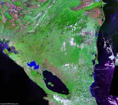 Nicaragua On World Map by Nicaragua Map And Satellite Image