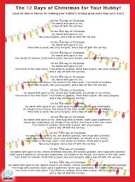 the 12 days of christmas for your hubby craft