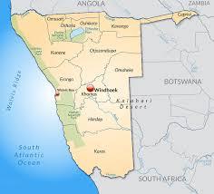 africa map kalahari desert background on namibia logistics support services