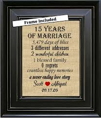 15th anniversary gifts framed 15th anniversary gift for 15th anniversary