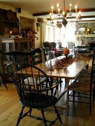 Primitive Dining Room Tables Early American Colonial Interiors Primitive Colonial Decor