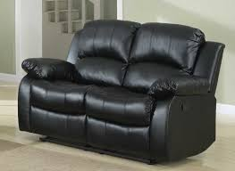 Black Leather Reclining Sofa And Loveseat Homelegance Cranley Reclining Sofa Set Black Bonded Leather