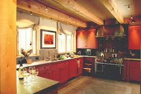 vermont country kitchen in post and beam home designs for living vt cool cable lighting between beams in rustic modern kitchen renovation