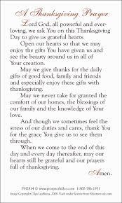 thanksgiving prayer for children thanksgiving u0026 christmas prayer cards prospect hill company