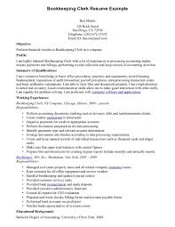Clerical Resume Sample Resume Example Bookkeeper Resume Sample Assistant Bookkeeper