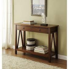 Entry Console Table Entry Console Table Wood Entryway Hallway Narrow Storage Drawers