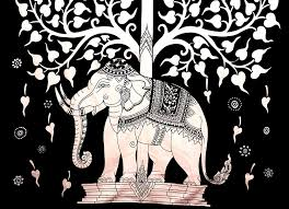 amazon com elephant tree tapestry good luck white elephant