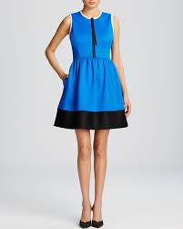 kate spade new york color block scuba dress in blue lyst