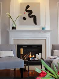 Tiled Fireplace Wall by Before And After Fireplace Makeovers Hgtv