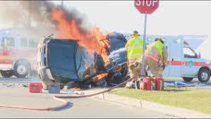 three people killed in fiery motorcycle suv crash in burlington