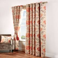 Floral Lined Curtains Terracotta Curtains Home Design Ideas And Pictures
