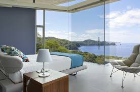 chambre vue mer villa contemporaine à costa rica avec vue sur la mer villa