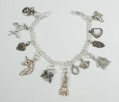 charm bracelet navajo and zuni charms sterling silver curb chain