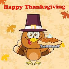 happy thanksgiving greeting with pilgrim turkey bird