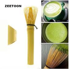 Teh Matcha panjang menangani kocokan matcha teh gaya jepang sikat teh bambu teh