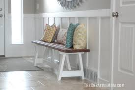 How To Build A Farmhouse Bench How To Build A Farmhouse Bench For Under 20 The Creative Mom