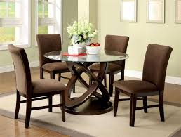 Round Glass Dining Room Table Sets Dining Tables Awesome Round Glass Dining Table For 6 Glass Round