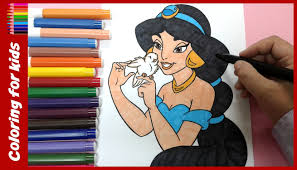 princess coloring pages how to color princess jasmine coloring