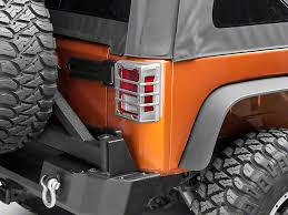 rugged ridge elite tail light guards rugged ridge wrangler elite tail light guards unpainted 11226 07