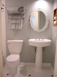 bathroom design chic tiny bathroom idea white pedestal sink