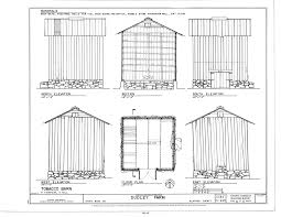 file tobacco barn elevations floor plan and section dudley
